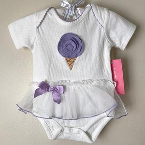 Baby Girl 6 Months Ice Cream Tutu Bodysuit